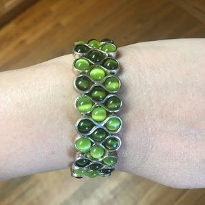 Jewelry - Green and Silver Bracelet